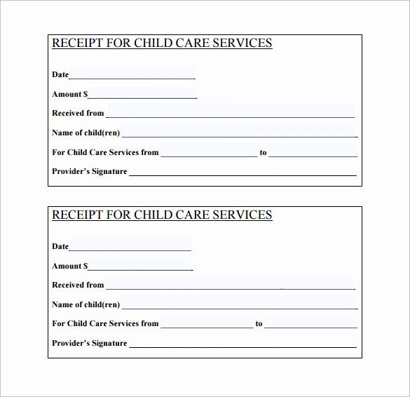 Daycare Tax Receipt Template New 21 Daycare Receipt Templates Pdf Doc