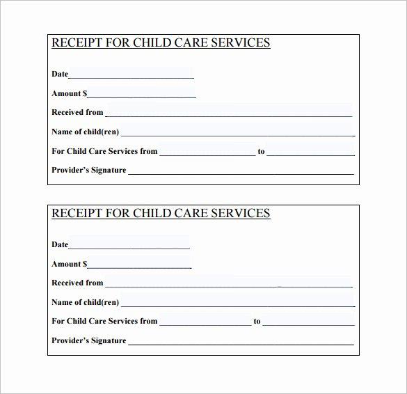 Daycare Tax Receipt Template New 21 Daycare Receipt Templates Pdf Doc
