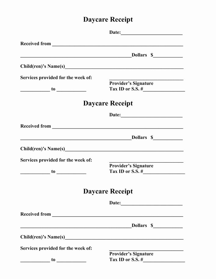 Daycare Tax Receipt Template Unique Download Daycare Receipt Pdf Template Free Download for