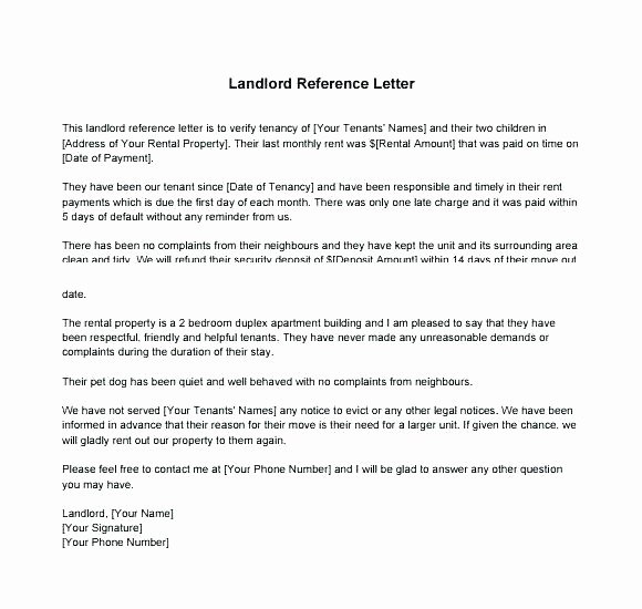 Define Letter Of Recommendation Inspirational Tenant Reference Letter for A Friend Publish Rental