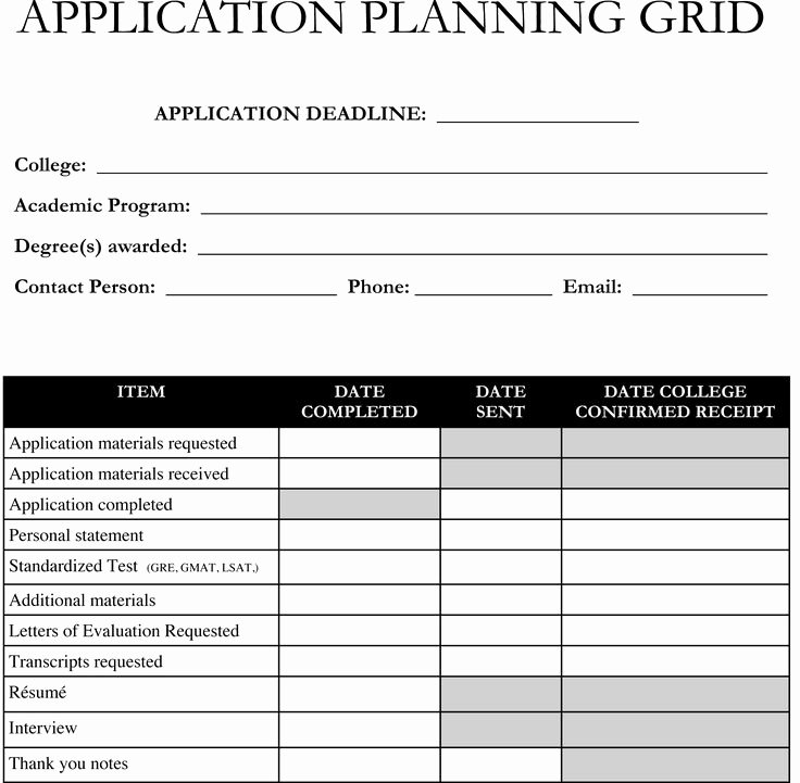 Degree Plan Template Excel Beautiful Planning On Applying to Graduate School Use This