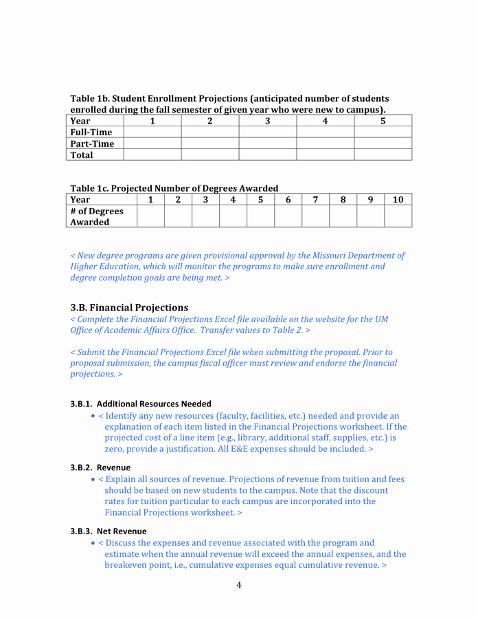 Degree Plan Template Excel Lovely New Degree Program Proposal Template In Word and Pdf