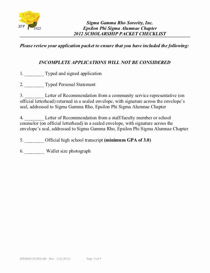 Delta Gamma Recommendation Letter Elegant Sigma Gamma Rho sorority Inc Epsilon Phi Sigma 2012