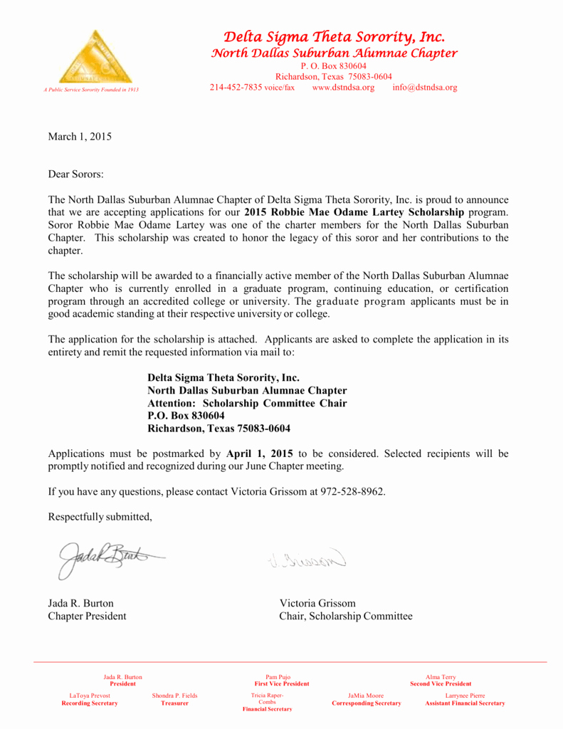 Delta Sigma theta Recommendation Letter Awesome Sample Munity Service Letter for Delta Sigma theta