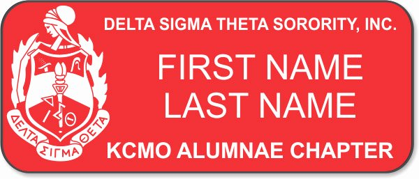 Delta Sigma theta Recommendation Letter Beautiful Delta Sigma theta sorority Kcmo Alumnae Red Badge $7 14