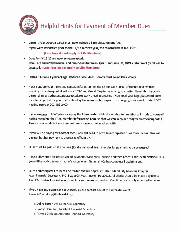 Delta Sigma theta Recommendation Letter Elegant 2019 2020 Dueshelperguide – Federal City Alumnae Chapter