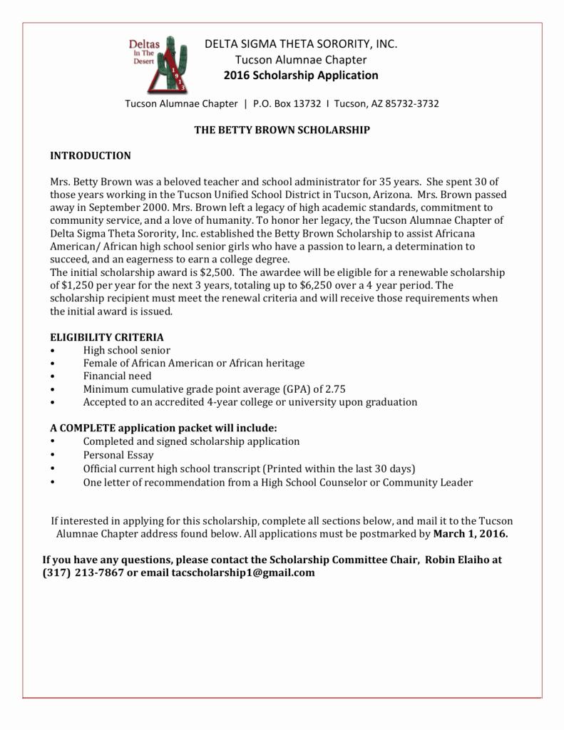 Delta Sigma theta Recommendation Letter Lovely Delta Sigma theta sorority Inc Tucson Alumnae Chapter