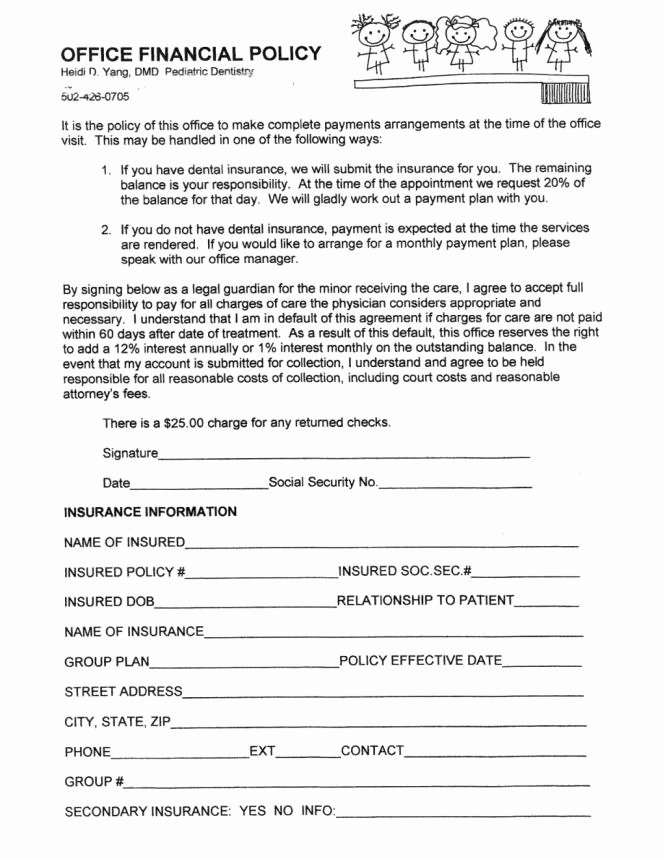 Dental Financial Agreement Template Best Of Dental Payment Plan Agreement Template