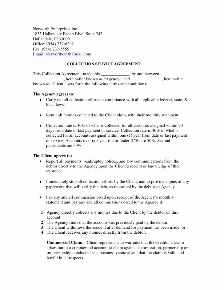 Dental Financial Agreement Template Best Of Networth Enterprises Inc Service Agreement