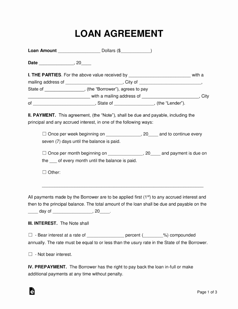 Dental Financial Agreement Template Lovely Free Loan Agreement Templates Pdf Word