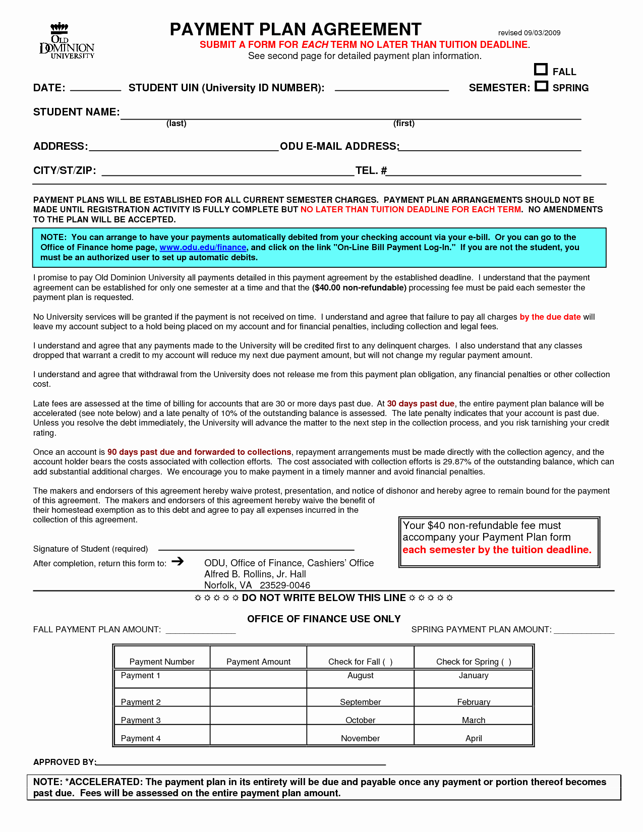 Dental Financial Agreement Template New Financial Agreement Template