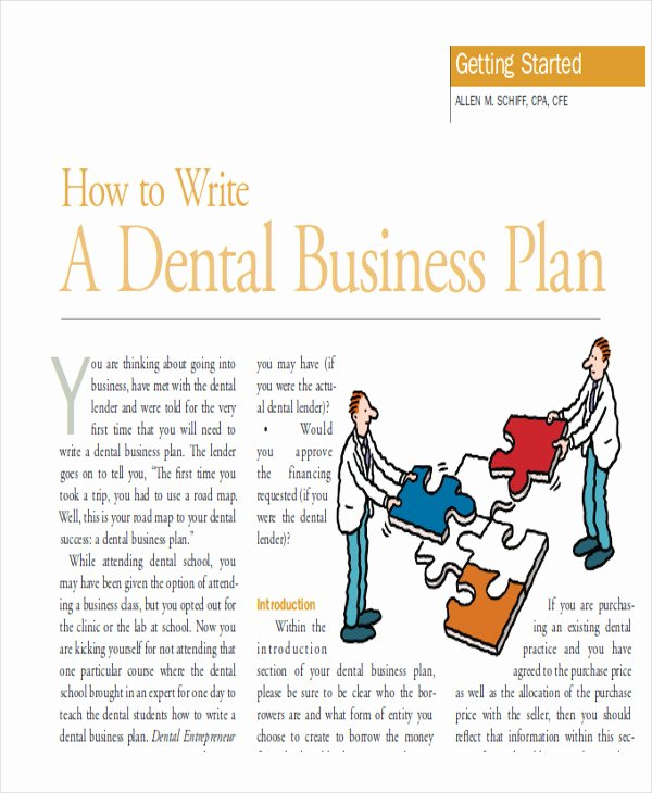 Dental Partnership Agreement Sample Beautiful 8 Business Plans Samples