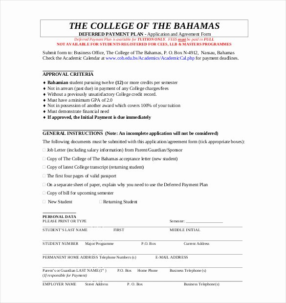 Dental Partnership Agreement Sample Unique Payment Plan Agreement Template 12 Free Word Pdf