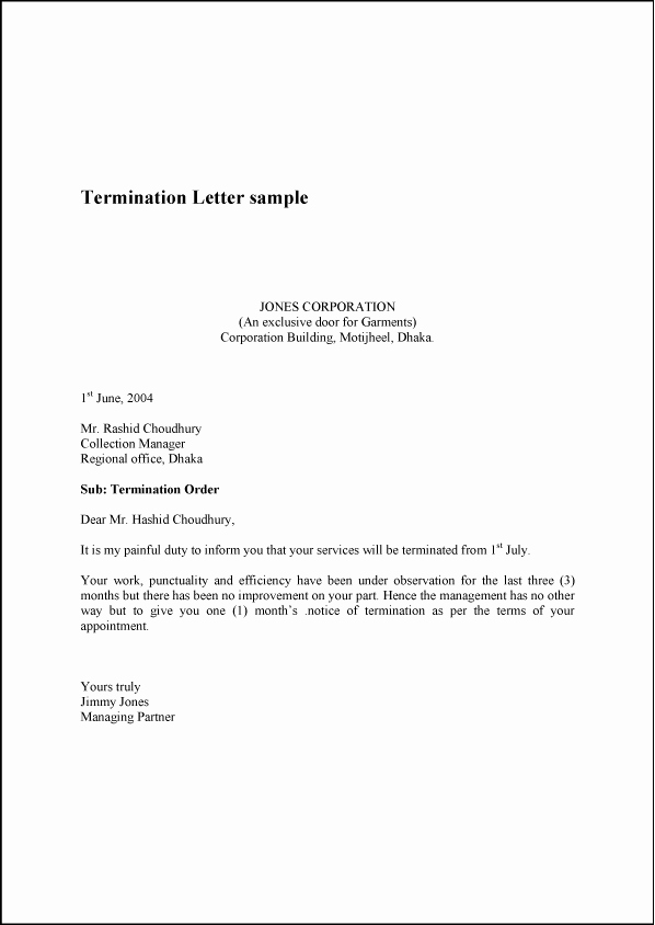 Dental Partnership Agreement Sample Unique Printable Sample Termination Letter Sample form