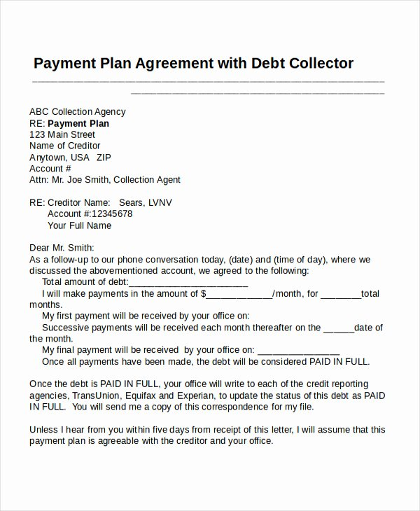 Dental Payment Plan Agreement Template Beautiful Payment Plan Template