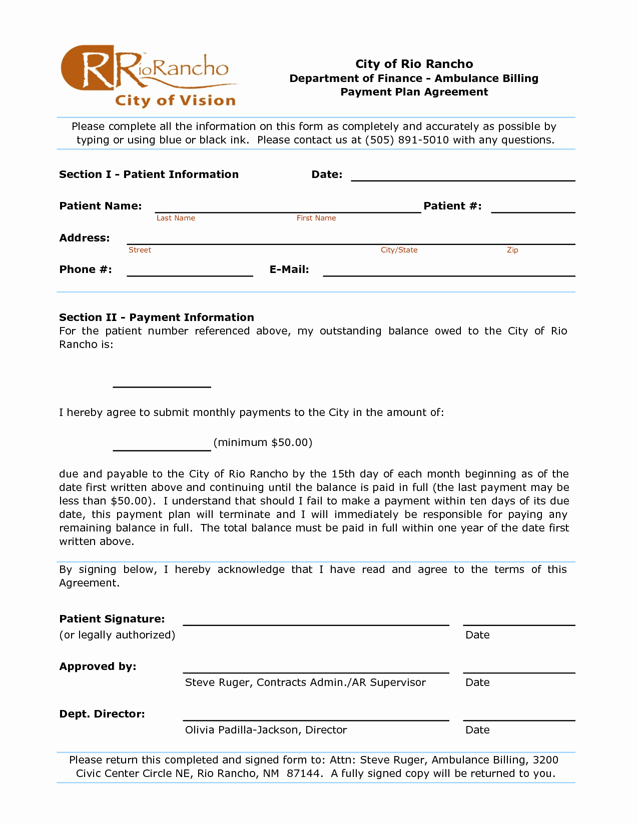 Dental Payment Plan Agreement Template Lovely 10 Best Of Patient Monthly Payment Agreement