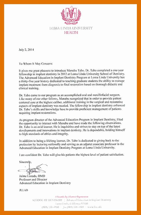 Dental School Recommendation Letter Awesome 1 2 Letter Of Re Mendation Dental School