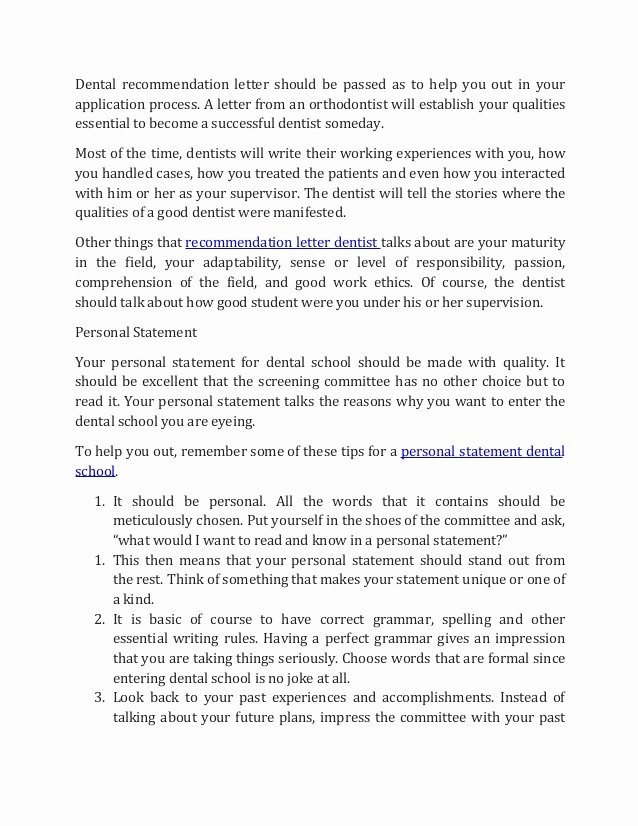 Dental School Recommendation Letter Beautiful How to Into Dental School In 2017