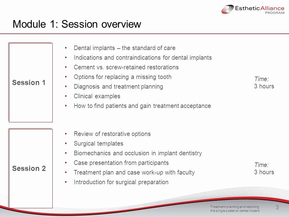 Dental Treatment Plan Template New Module 1