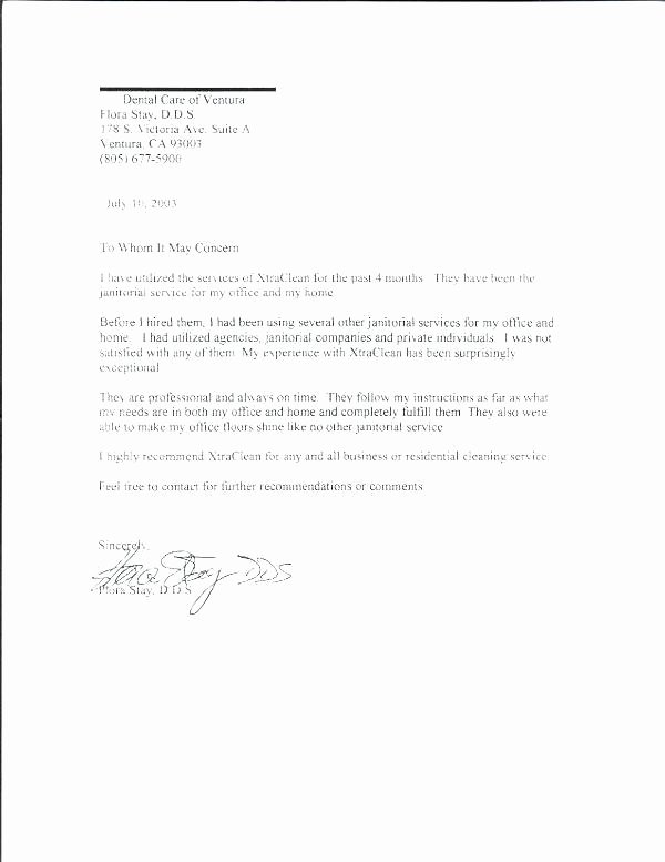 Dentist Letter Of Recommendation Best Of Dental Letters Re Mendation