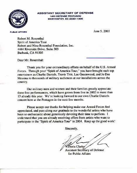 Department Of the Navy Letterhead Template Best Of Letters the Spirit America tour