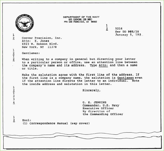 Department Of the Navy Letterhead Template Lovely Naval format Letter Template – thepizzashop