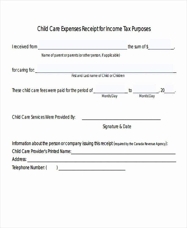 Dependent Care Receipt Template Awesome 4 Expense Receipt Templates – Free Samples Examples