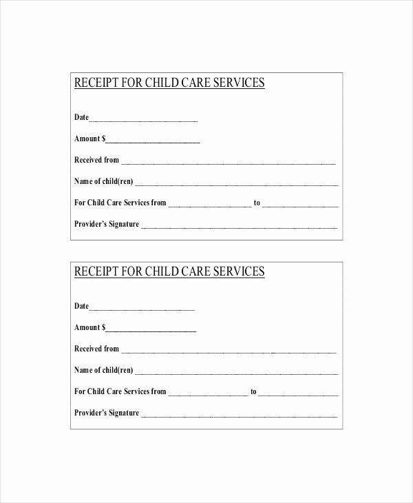Dependent Care Receipt Template Awesome Child Support Payment Receipt Template — Rapic Design