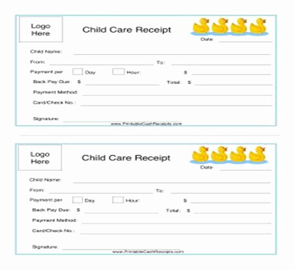 Dependent Care Receipt Template Beautiful 21 Daycare Receipt Templates Free Pdf Word Excel formats