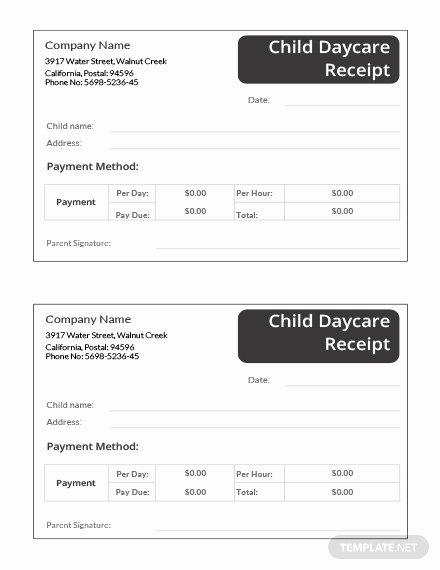 Dependent Care Receipt Template Best Of Child Daycare Receipt Template Download 74 Receipts In