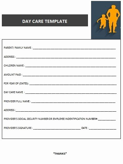 Dependent Care Receipt Template Elegant Download Child Care Invoice Template Free