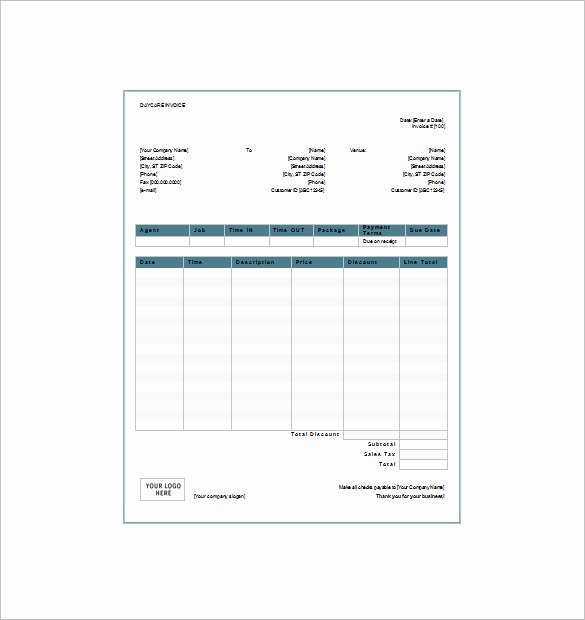 Dependent Care Receipt Template Fresh 28 Of Fsa Receipt Nanny Template for