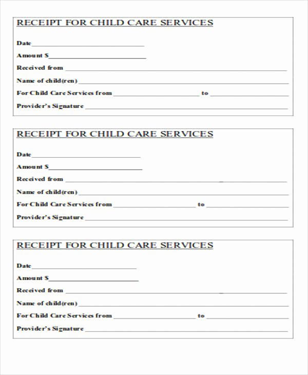 Dependent Care Receipt Template Fresh 39 Free Receipt forms