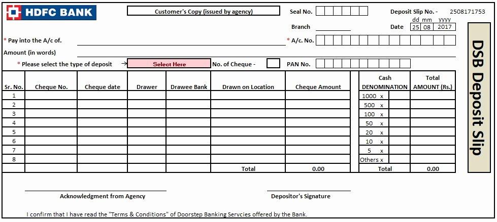 Deposit Slips Template Word Beautiful 3 Bank Deposit Slip Template Excel Word and Pdf Excel Tmp