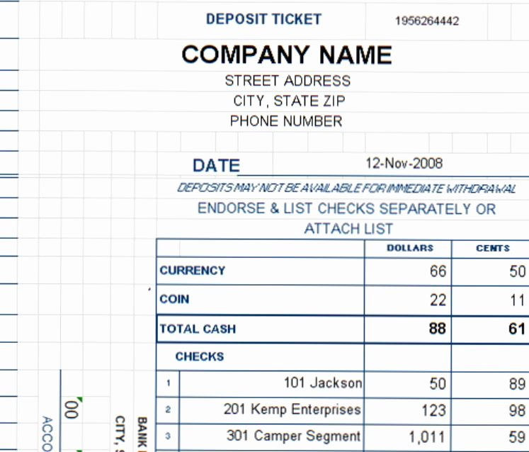 Deposit Slips Template Word Best Of New Deposit Ticket Template Added to Expanded Collection