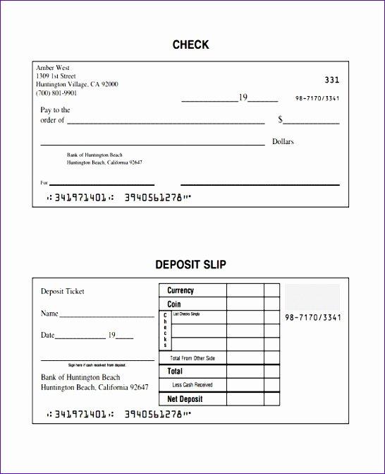 Deposit Slips Template Word Inspirational 8 Deposit Slip Template Excel Exceltemplates