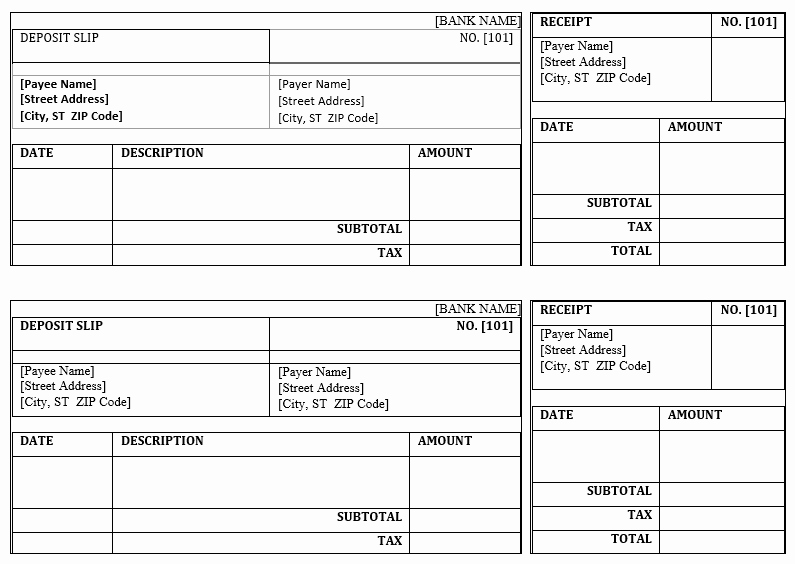 Deposit Slips Template Word Lovely 5 Free Deposit Slip Templates Small Business Resource