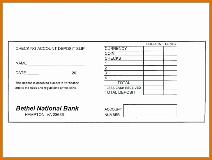 Deposit Slips Template Word Lovely Free Printable Deposit Slips Template Kaniwebpaco