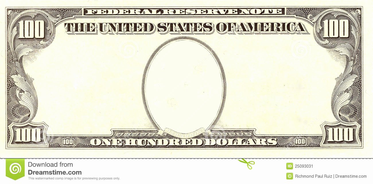 Design Your Own Money Template Awesome Portrait Cliparts