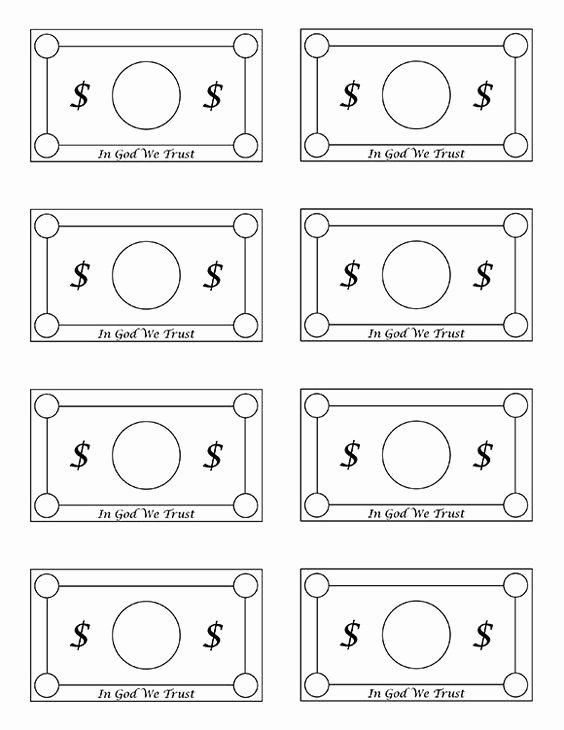Design Your Own Money Template Fresh Free Printable Play Money