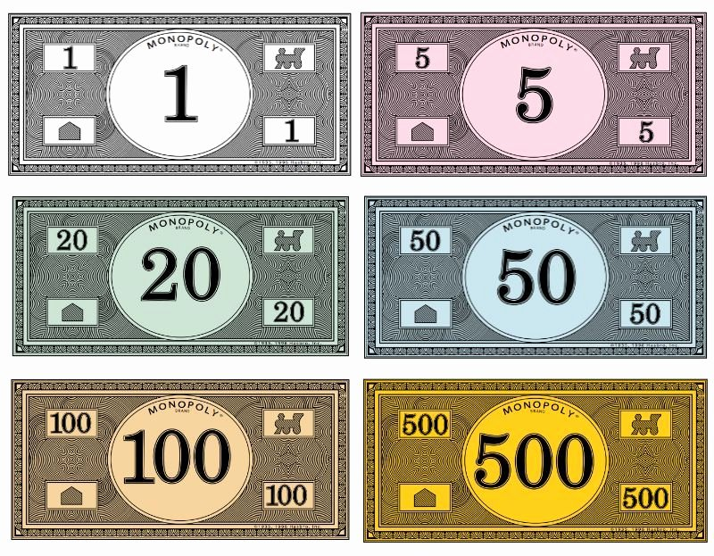 Design Your Own Money Template New where to Print Your Own Monopoly Money