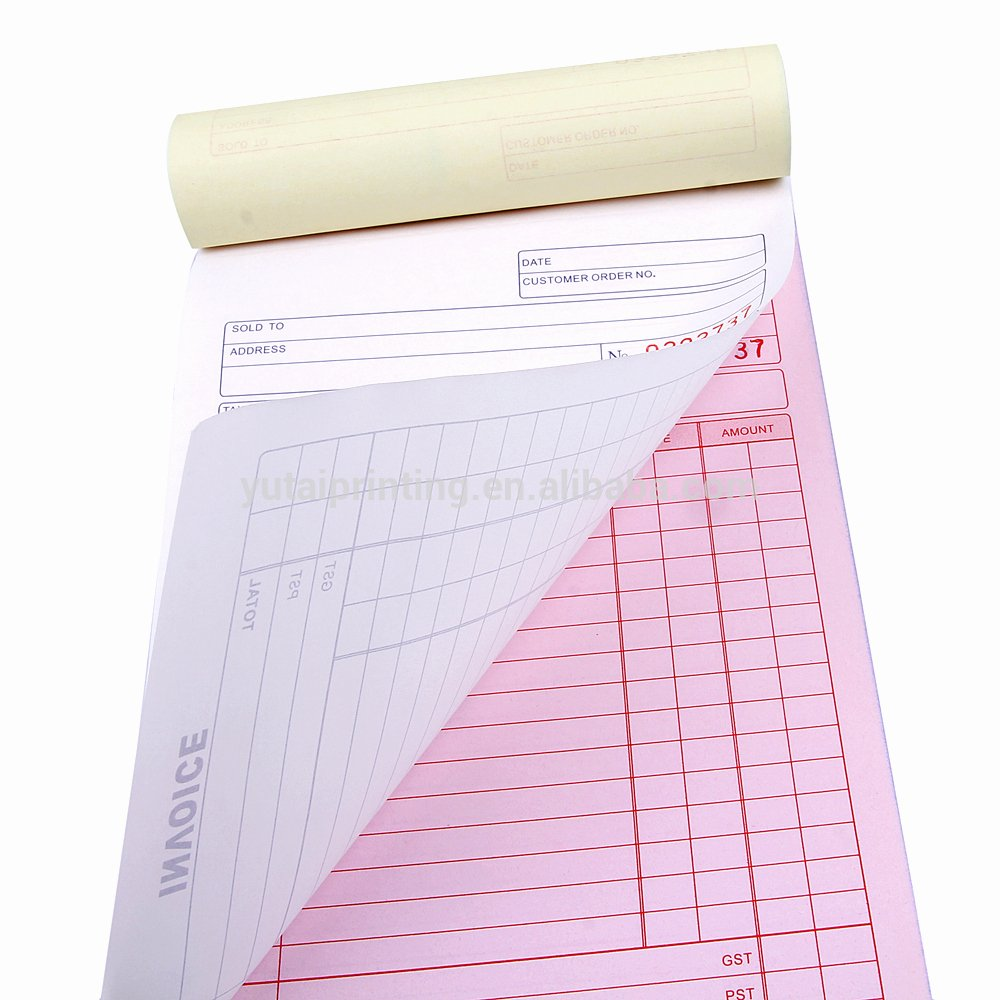 Design Your Own Receipt Book Lovely Bill Book Printing Design Invoice Book Vista Print Invoice