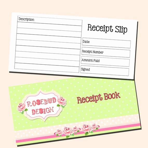 Design Your Own Receipt Book Lovely Inner Page Receipt Book 3 to An A4 Page by