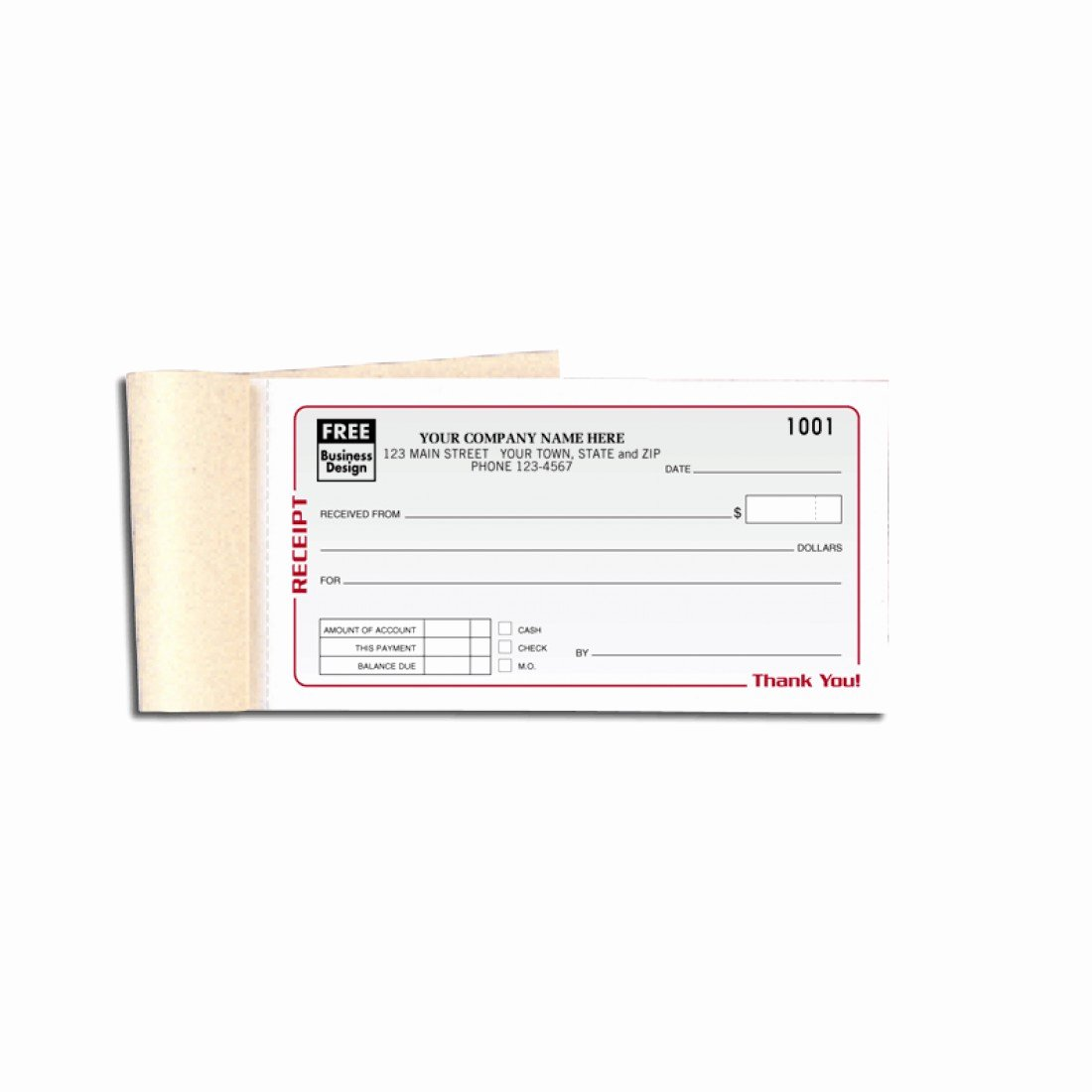 Design Your Own Receipt Book Luxury Personalized Receipt Books