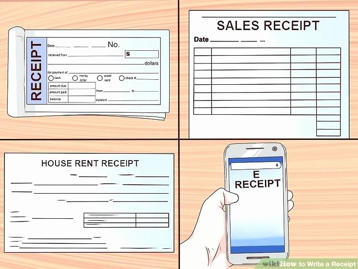 Design Your Own Receipt Book New How to Make A Receipt Book Image Titled Write A Receipt