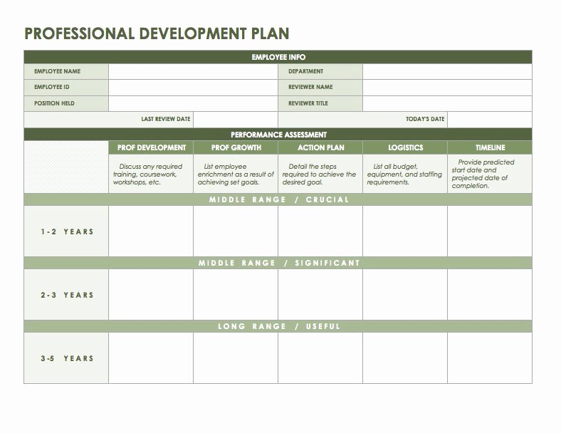 Development Action Plan Template Awesome Free Microsoft Fice Templates Smartsheet