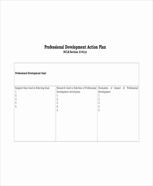 action plan template free