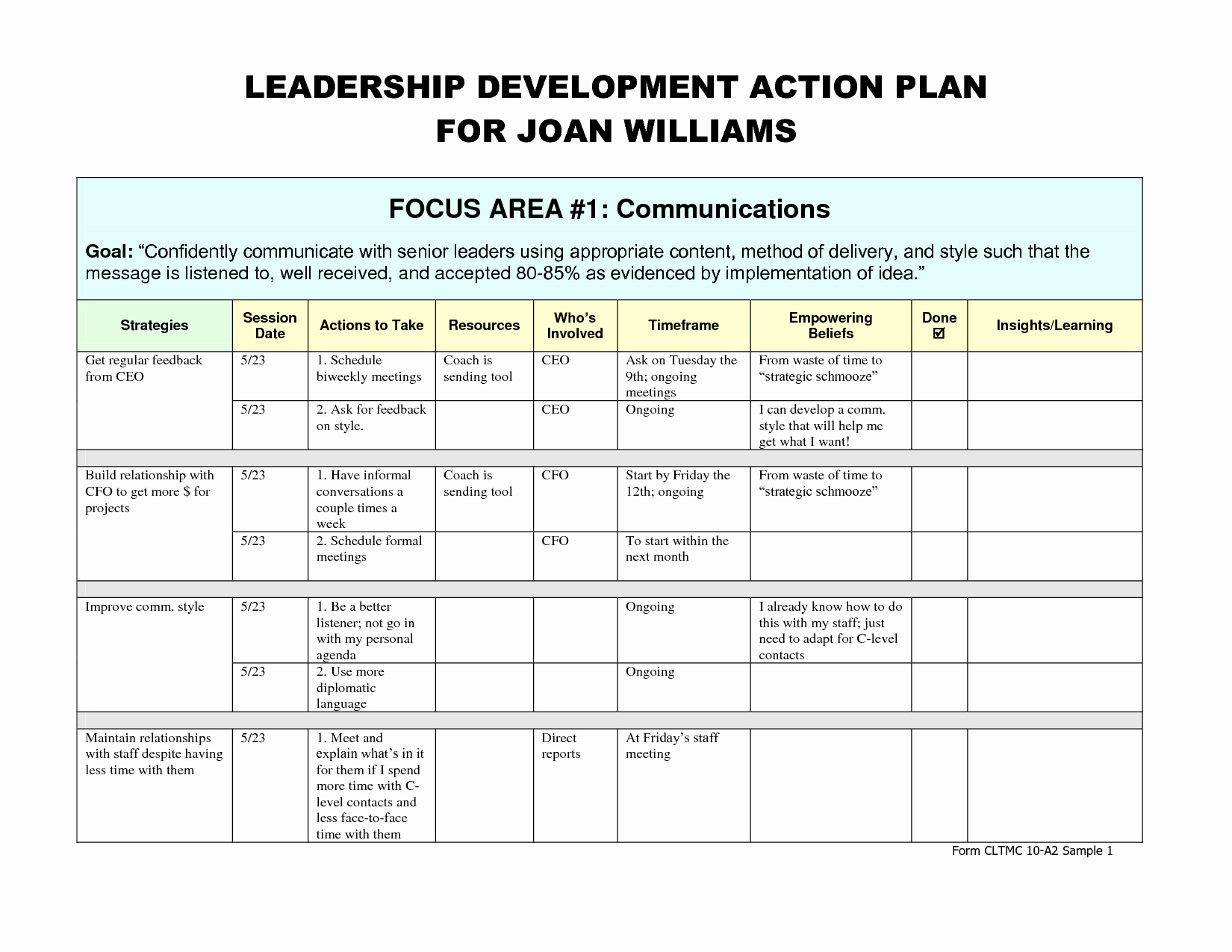 Development Action Plan Template Unique Leadership Development Plan – Emmamcintyrephotography