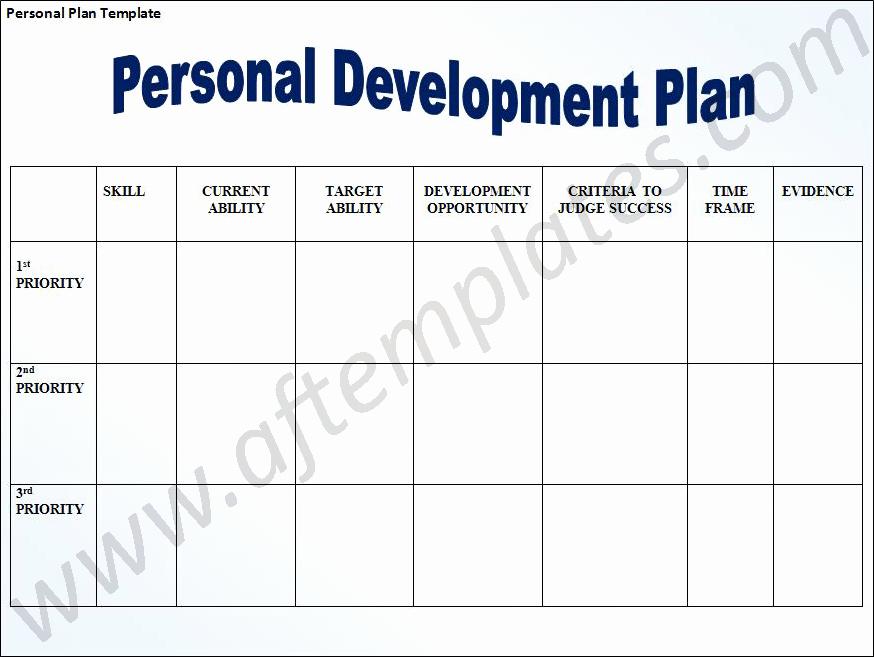 Development Plan Template Word Beautiful Personal Development Plan Template