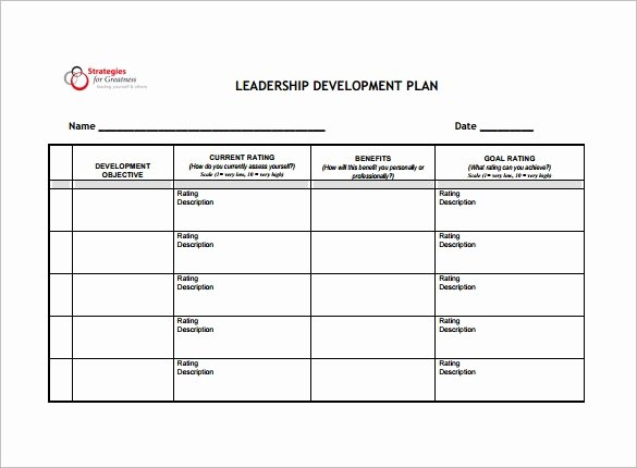 Development Plan Template Word Luxury Development Plan Template 14 Free Word Pdf Documents
